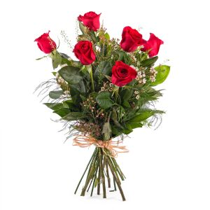 6 Long-stemmed Red Roses